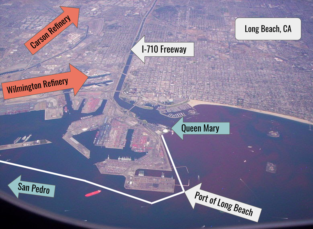 Aerial view of the Port of Long Beach.